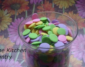 Dots  Jimmies Sprinkles Cupcake Cookies Cakes  2 oz Jar Candy Dots