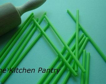 "Lime green  Cake Pop Sticks - 4"" Plastic Sticks (24 count)"