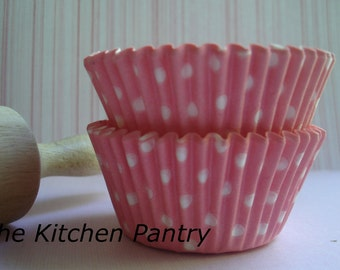 Baby Pink Polka Dot Cupcake Liners Pink Standard  Baking Cups (50)