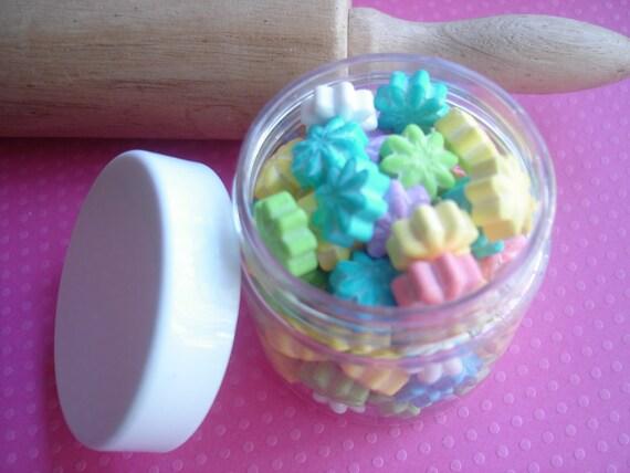Sprinkles Jimmies and Sugar Flowers in Pastels  Cupcakes, Cake Pops or Cookies Large jar 4 oz