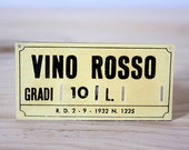 Vintage metal italian sign -RED Wine-