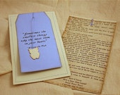 Vintage Baby Shower Invitation and Baby Christening Annoucement Baby boy Blue Winnie the Pooh Book Page Baby Owl