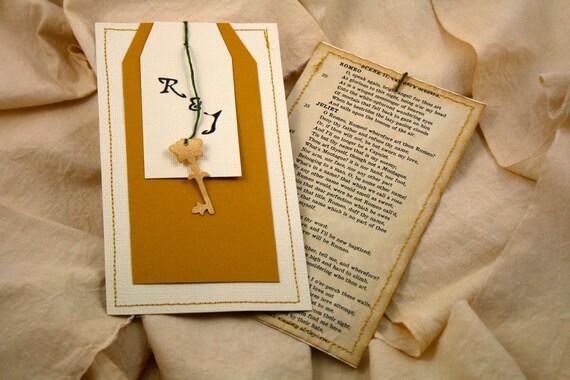 Romeo And Juliet Wedding Invitations: Items Similar To Vintage Wedding Invitation Mustard Yellow