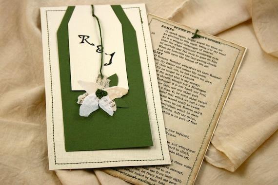 Romeo And Juliet Wedding Invitations: Items Similar To Wedding Invitation Vintage / Anniversary