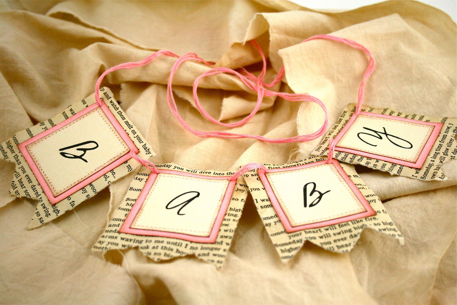 Baby Shower Banners / Decorations Pink Baby by Theturningofapage