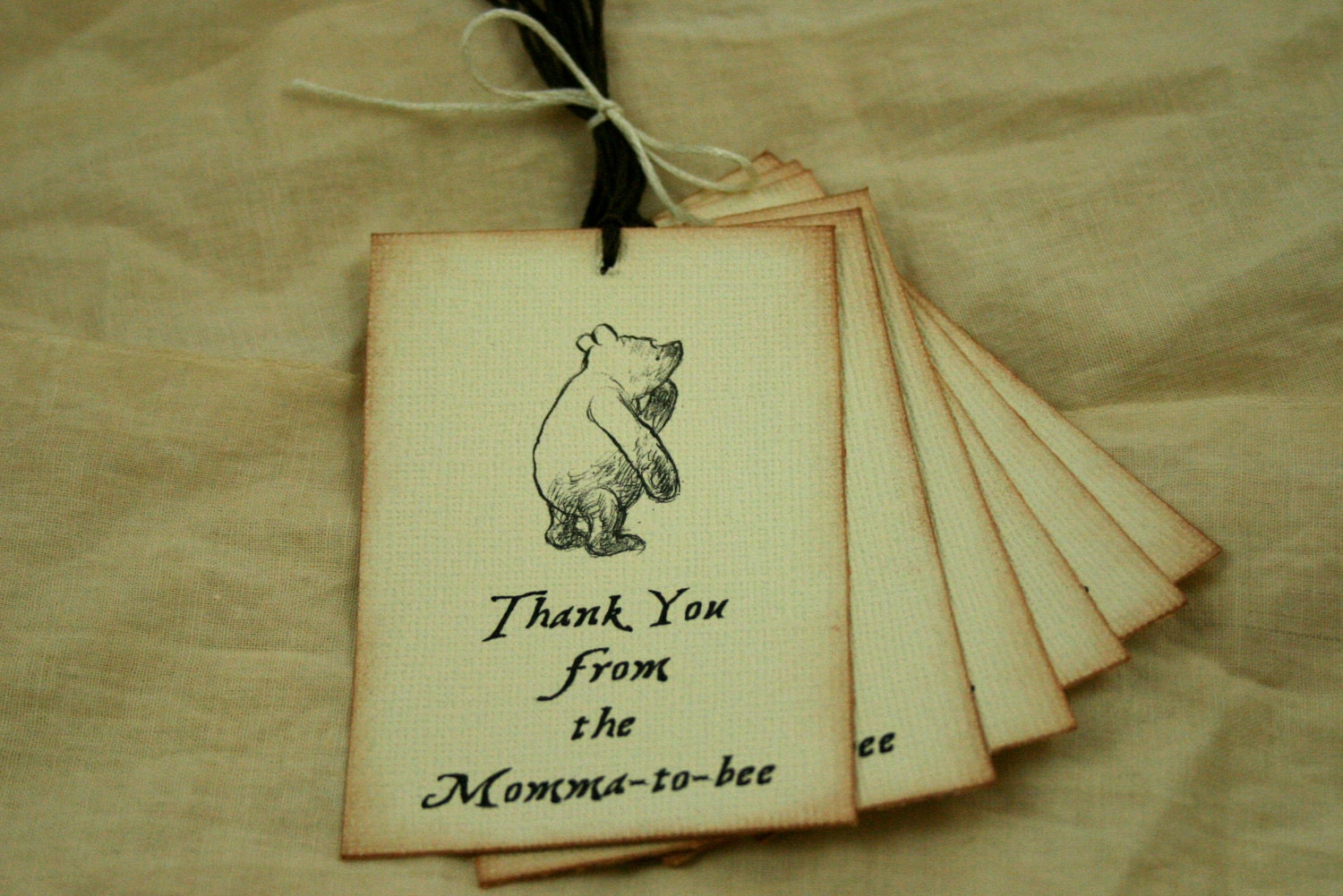 baby shower tags vintage winnie the pooh by theturningofapage