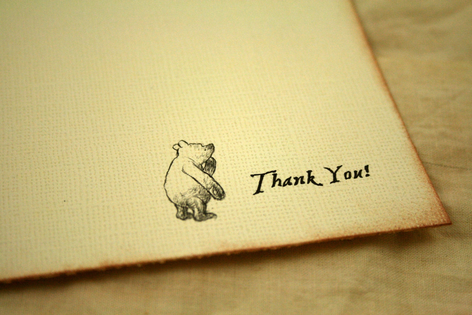 Thank You Notes Winnie The Pooh Set Of 12 By Theturningofapage