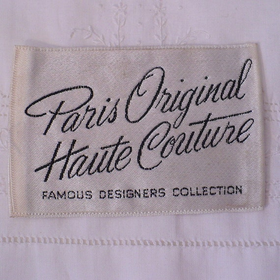paris original haute couture vintage sewing label