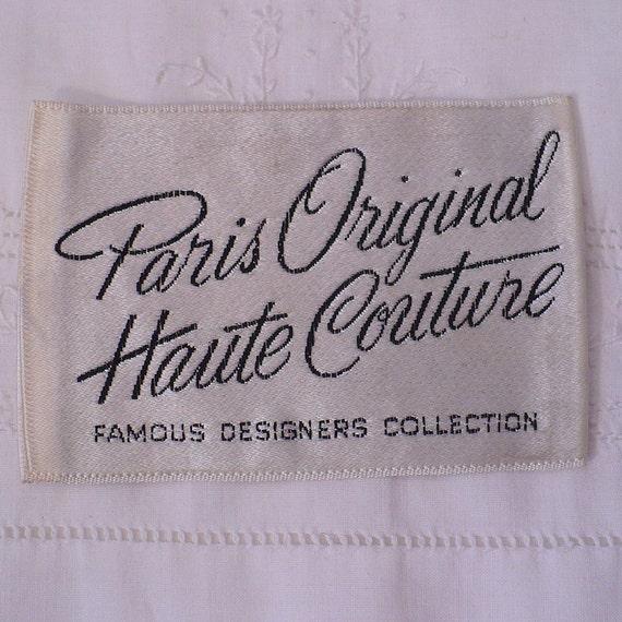 paris original haute couture vintage sewing label