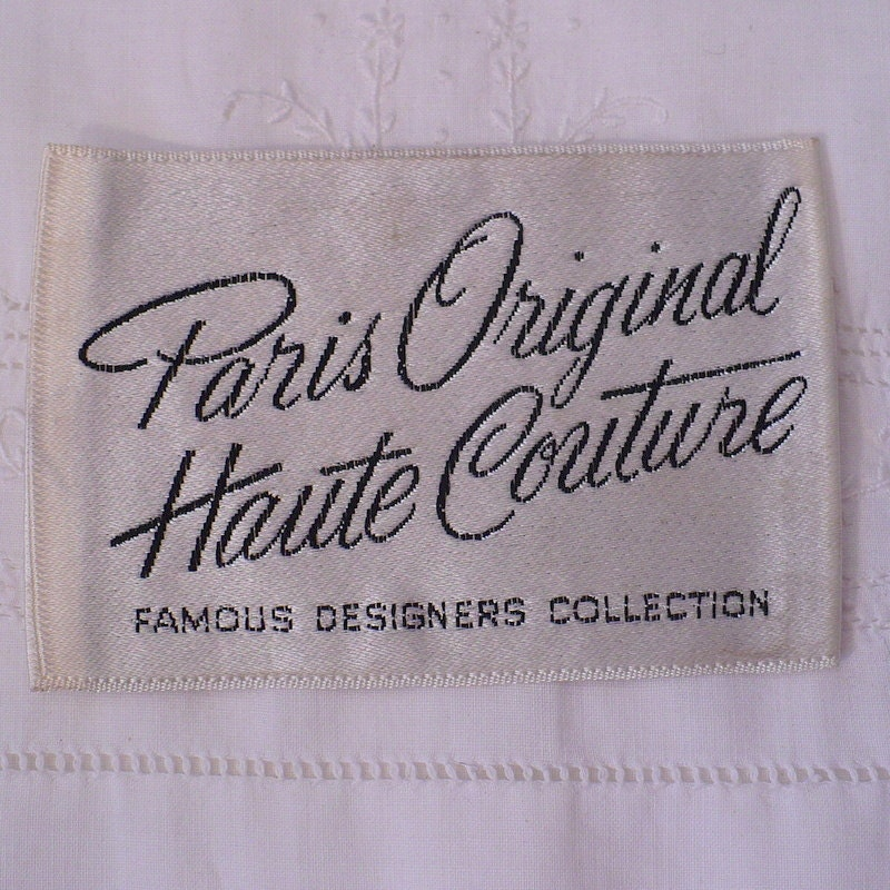 paris original haute couture vintage sewing label by