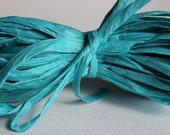 Teal Paper Raffia Ribbon: Raffia, Teal Ribbon, Aqua Ribbon, Turquoise Raffia, 10 yards