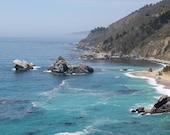 Blue Ocean Water Seascape, Julia Pfeiffer Burns State Park, Big Sur, California