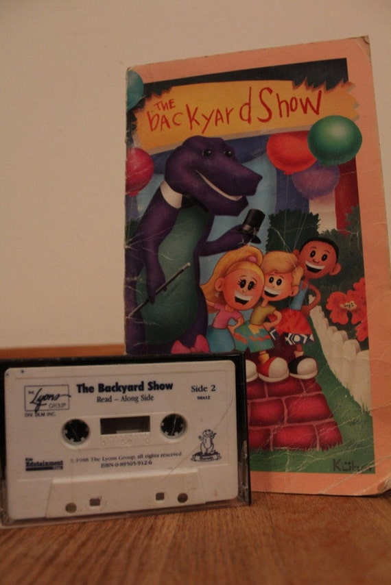 barney and the backyard gang the backyard show book and cassette
