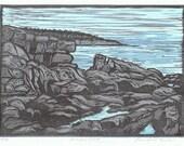 Acadia Coast Block Print