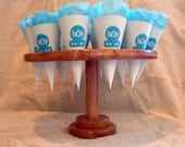 This is a custom order for  Suzee L.  one custom made stained 16 hole cone stand