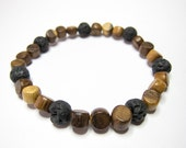 Icelandic Lava and Wood Bracelet