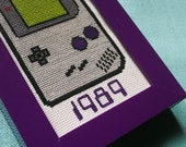1989 Gameboy - Framed Cross-Stitch
