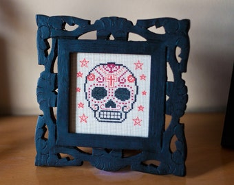 Cross-Stitch Pattern - Day of the Dead Calavera (PDF)