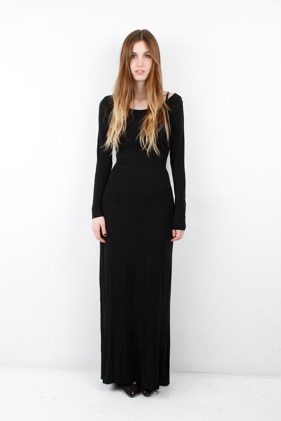 Long Vintage Black Mondi Dress