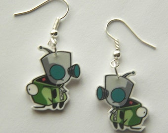 Invader Zim Gir from the Invader Zim in his dog suit  Novelty Earrings