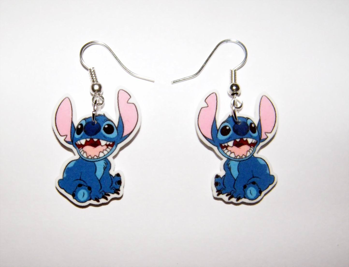 disney lilo and stitch stitch earrings by murals4u on etsy