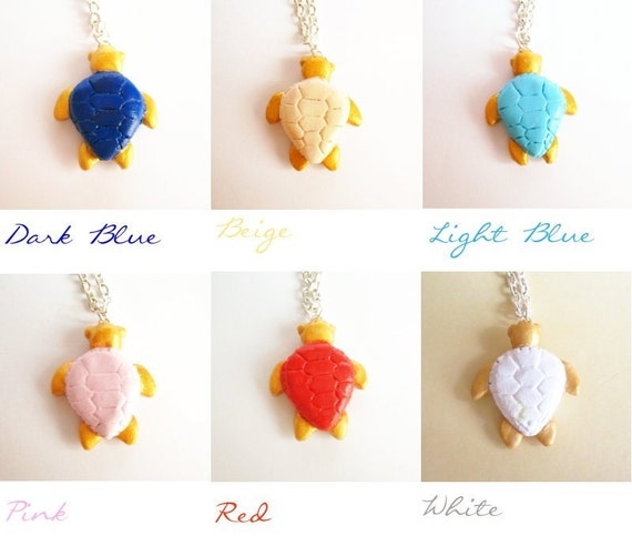 Turtle necklace, wish necklace, Good luck charm, Choose your good luck color