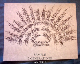 Family Tree - Personalized Hand Calligraphy