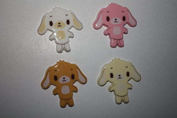 Sincere LARGE puppy dog cabochons - 4 piece set (40mm) - MMR