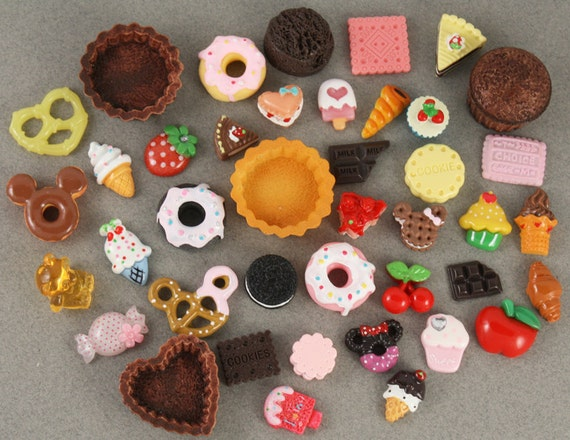 SWEETS BLOWOUT SALE - More than 40 Kawaii Sweets Deco Cabochons