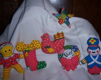 Set of 6 handmade ornaments