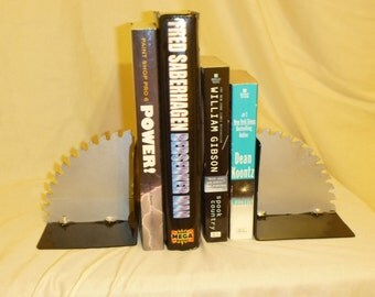 saw blade - book ends