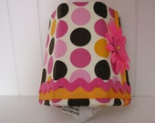 Multi Color Polka Dot Night Light with pink flower