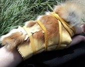 Fox Hunter: Leather and fur hand piece