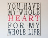 Whole Heart - Handpainted Wooden Wall Art ( can be framed )