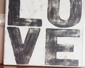 LOVE - Hand Painted Sign