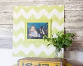 Hand Painted Chevron Frame - Large