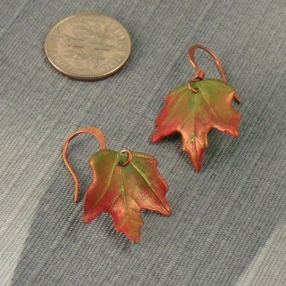 Petite Autumn Changing Leaf Earrings