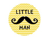 Little Man Mustache Onesie Sticker... Fun Photo Prop for Mustache Lovers...Happy to Customize