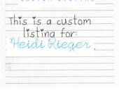 Custom Listing for Ms. Heidi