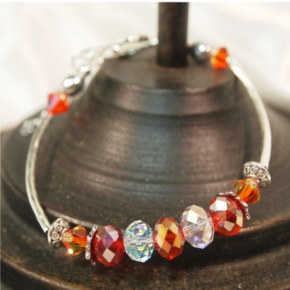 Fire Opal Crystal Bracelet