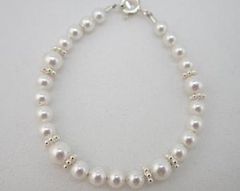 White Pearls baby bracelet (BDW)