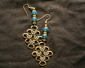 Pretty  antique gold  earrings
