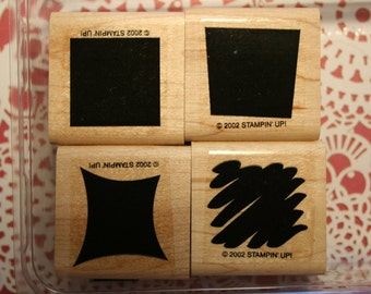 ALPHA SHADOWS Wood - Stampin' Up retired - Stamp Set
