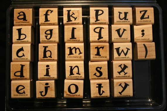 Stampin' Up retired - Alphabet fun Lower- Stamp Set