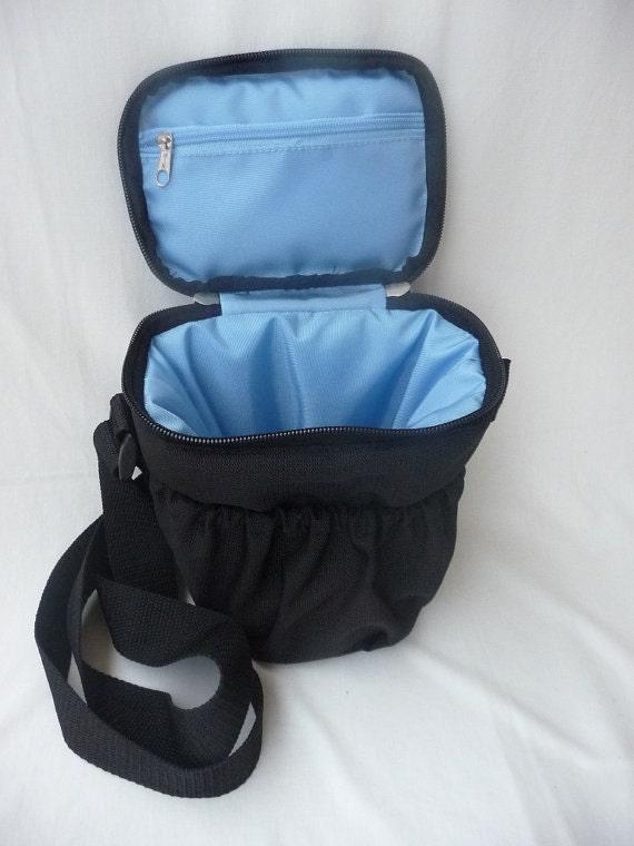SALE 40% OFF - Camera Bag - Handcrafted in Peru - Sorpresa Celeste by Lu100
