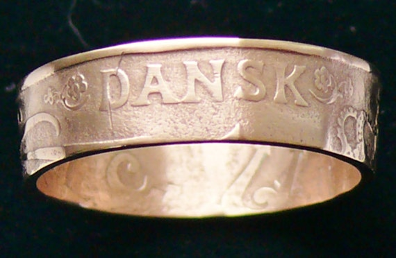 Bronze Coin Ring 1905 Danish West Indies 1 Cent - Ring Size 7 1/2 and Double Sided (RARE)