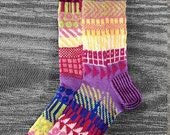 Socks, Reversed Hand Knit Socks, Men Sox, Women Sox, Unique Knit Socks, Teen Socks, Boho Hand Knit Socks, Hipster Socks, MADE TO ORDER -  41