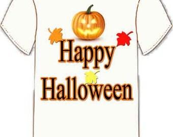 Happy Halloween Jack-O-Lantern Tee Shirt