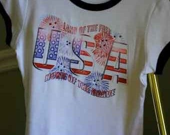 Land of The Free, Home of The Brave Patriotic Tee Shirt