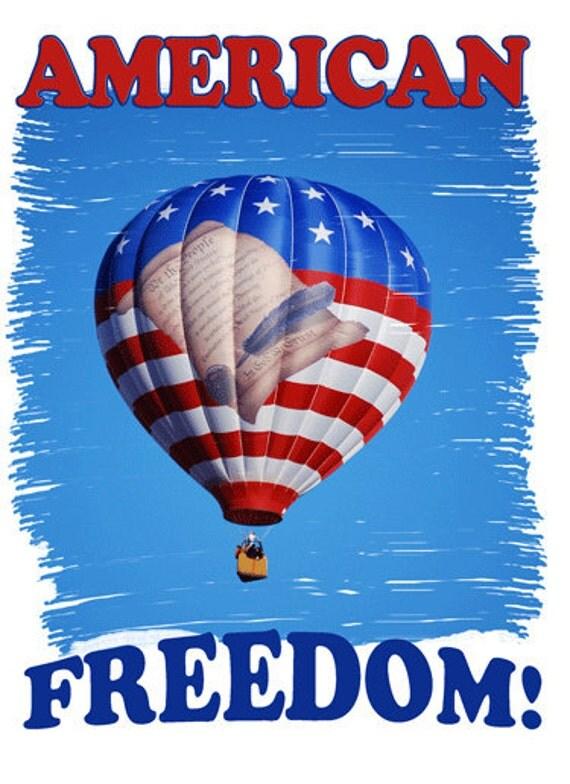 American Freedom Hot Air Balloon Tee Shirt